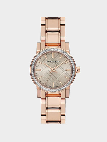 Burberry Rose Dial Diamond-set Watch