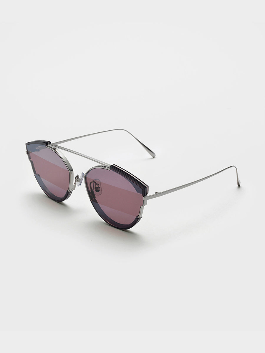 Gentle Monster Clear Navy Acetate Sunglasses