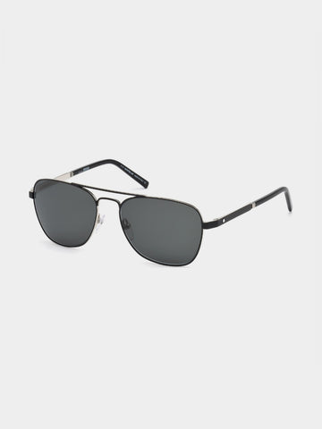 Men's  Metallic Simple Design Sunglasses