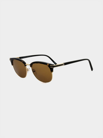 Men's  Retro Style Half Frame Casual Sunglasses