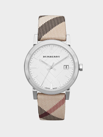 Burberry White Dial Silver Watch
