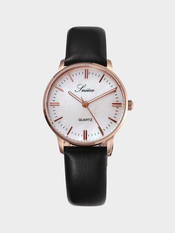Men's Simple Design Watch Black
