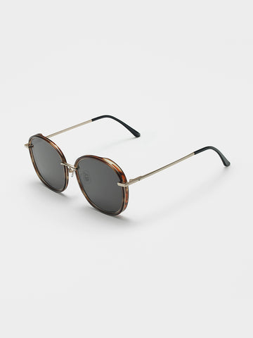 Gentle Monster Brown Acetate Front Sunglasses