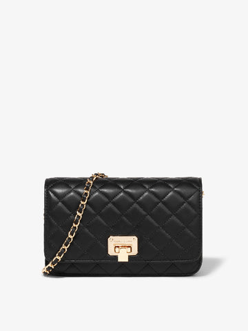 Women's Rhombic Crossbody Bag Black