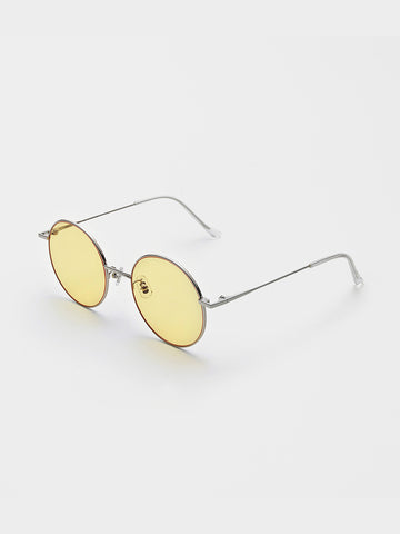 Gentle Monster Yellow-tone Round Frames Sunglasses