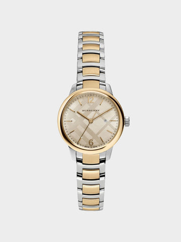 Burberry The Classic Round Two-Tone Watch