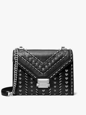Women's Studded Leather Shoulder Bag
