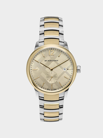 Burberry Gold Patterned Quartz Watch