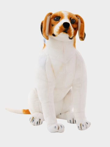 Plush Doll Simulation Dog Design Creative Adorable Soft Toy  White