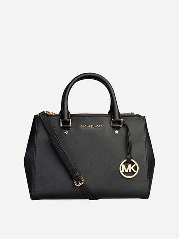 Women's Cowhide Handbag Black