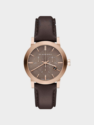 Burberry The City Chocolate Leather Watch