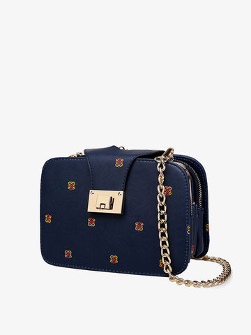 Women's  Fashion Zipper Printed Single Shoulder Bag