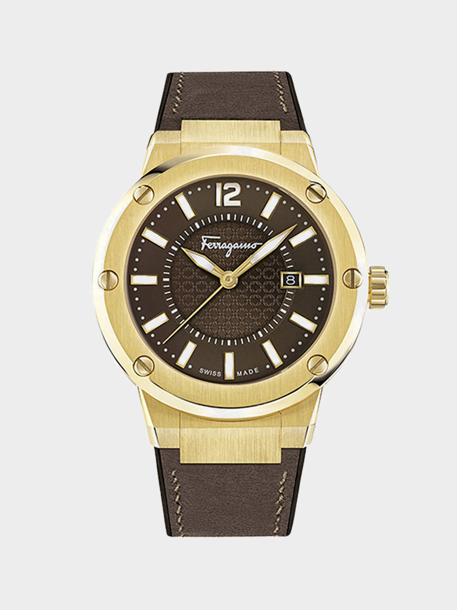 Men's Swiss Quartz Watch, 44mm