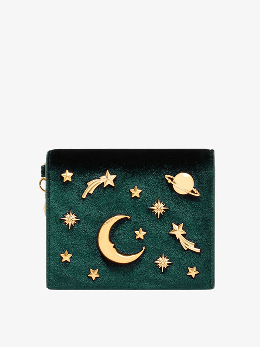 Women's Wallet With Stars Moon Shaped