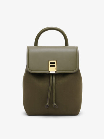 Women's Stitching Backpack Olive Green