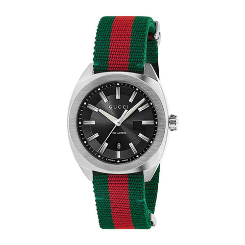 GUCCI GG2570 series watch red and green strap stainless steel watch
