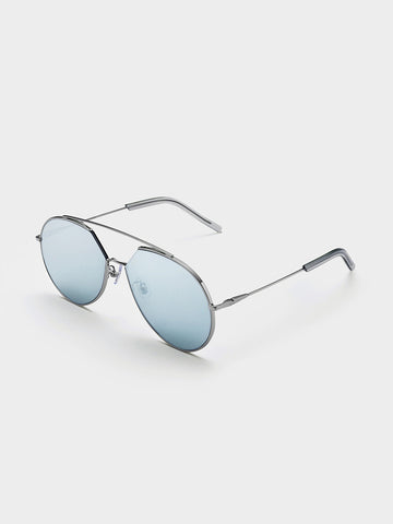 Women's Silver-Tone Sunglasses