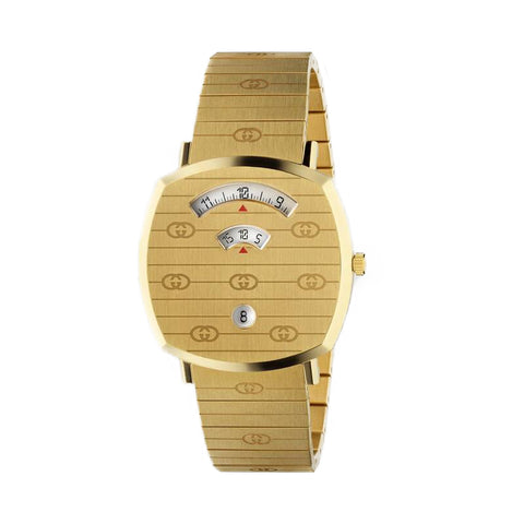 GUCCI Gold Strap Gold Plated PVD Stainless Steel Men's Watch