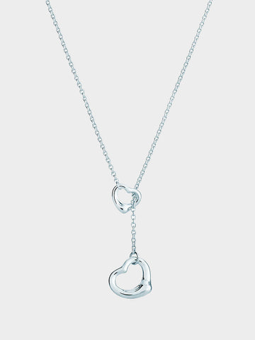 Women's Double Heart Hollow Lasso Necklace