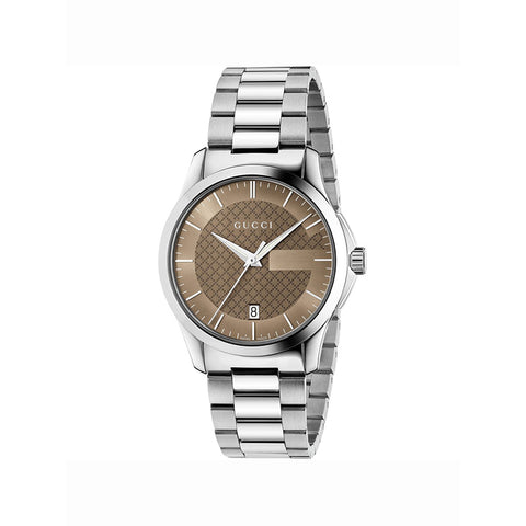 Gucci G-Timeless white mother-of-pearl stainless steel unisex watch