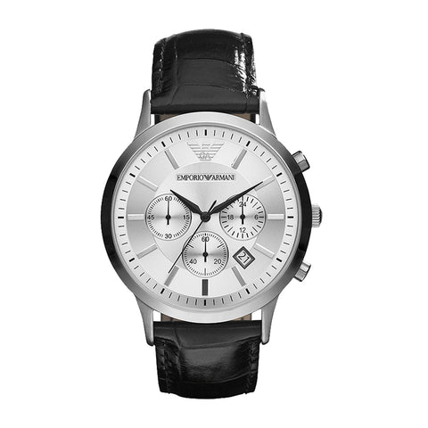 Emporio Armani Men's Classic Silver Dial Stainless Steel Watch