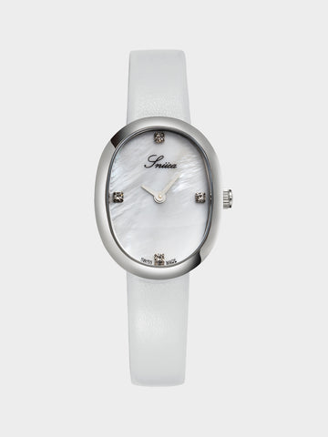 Women's Leather Strap Mechanical Watch