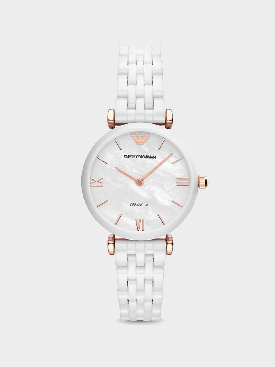 Emporio Armani White Ceramic Bracelet Watch