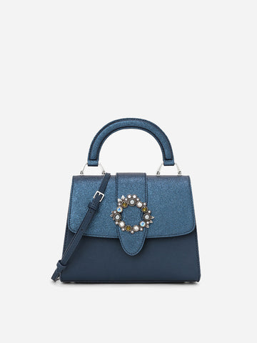 Women's Bags With Semi-precious Button Decoration