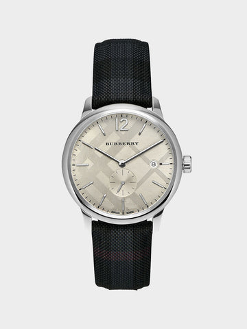 Burberry Stamped Round Dial Watch