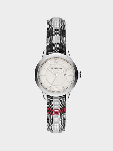 Burberry White Dial Calendar Watch
