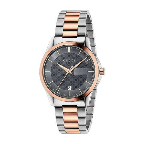 Gucci G-Timeless Black Dial Stainless Steel Unisex Watch