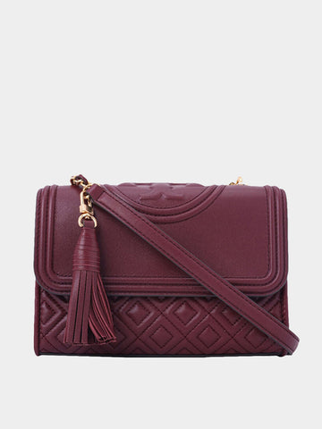 Women's Deep Red Fleming  Small Shoulder Bag