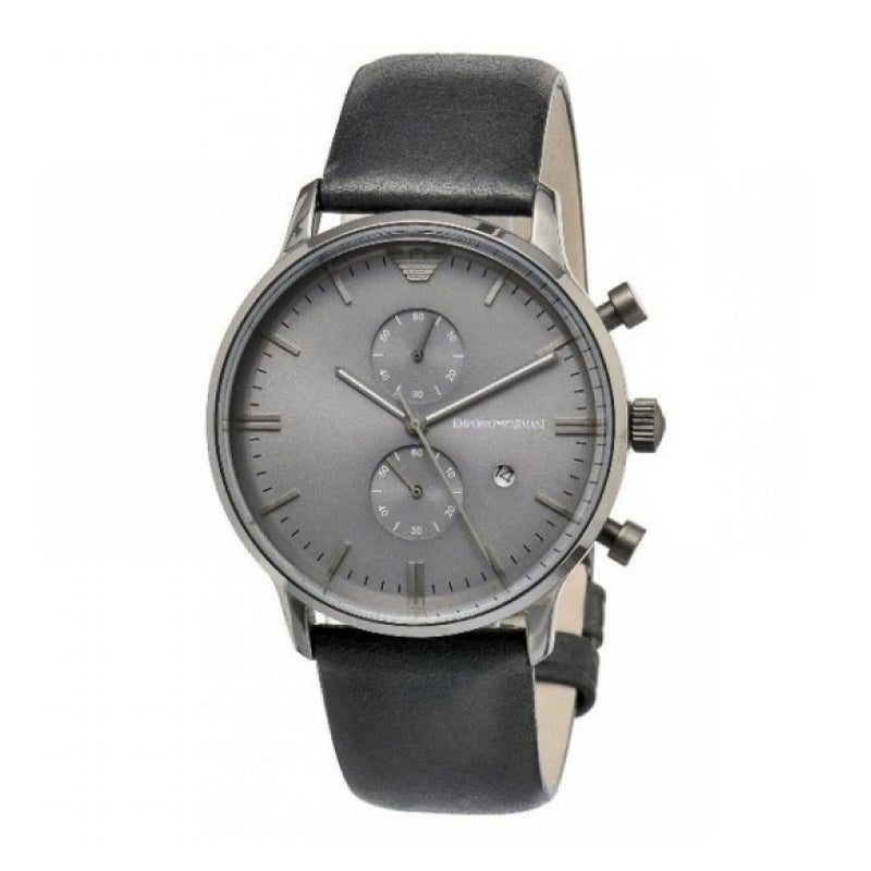 Emporio Armani Men's leather fashion classic simple watch
