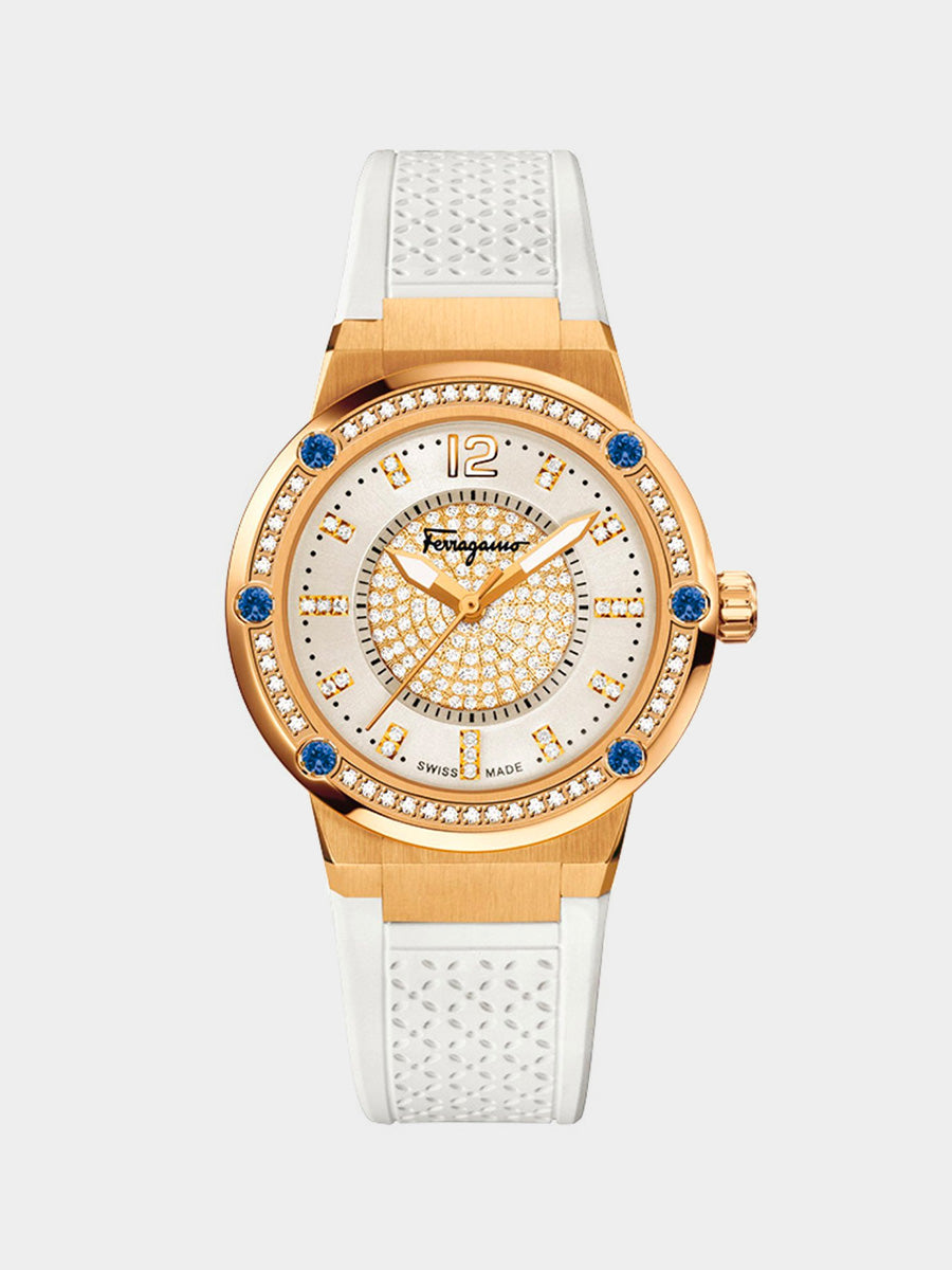 Women's Gold Plated Watch with Diamonds