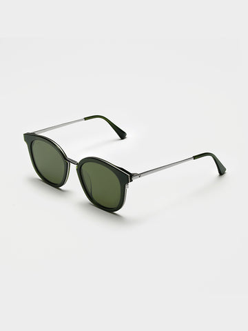 Gentle Monster Silver Metal Bridge Sunglasses