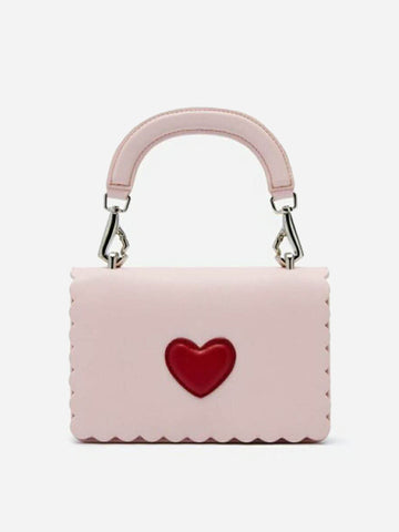 Women's Heart Shape Crossbody Bag Pink