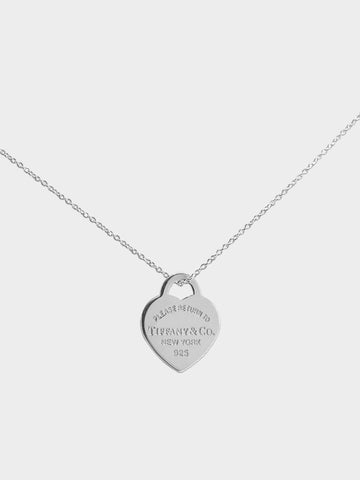 Women's Sterling Silver Heart Necklace