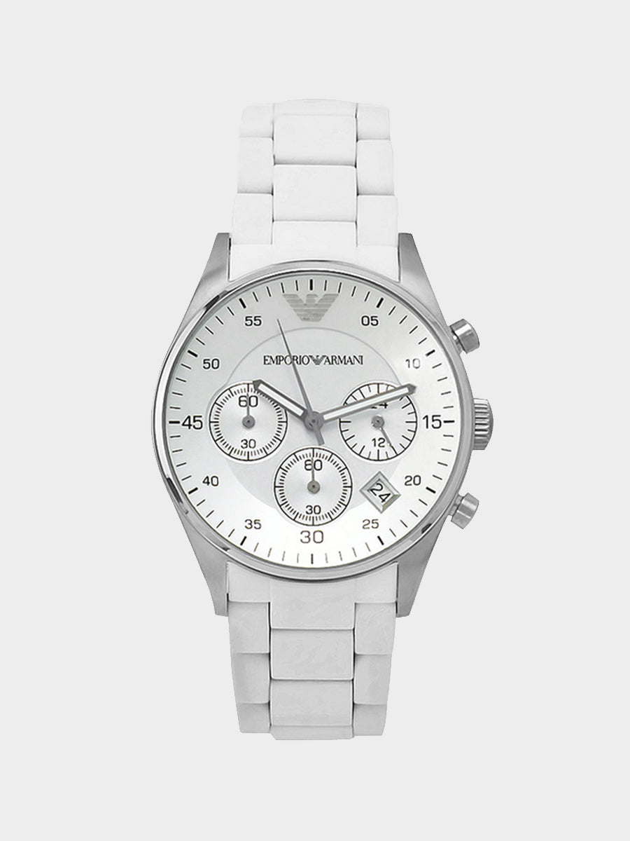 Emporio Armani Chronograph White Watch