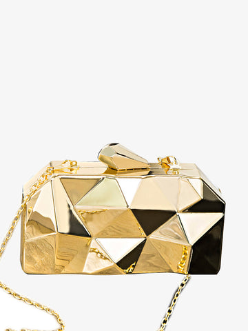 Women's Metal Diamond Shoulder Bag
