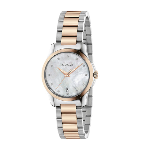 Gucci G-Timeless Mother-of-Pearl Diamond Women's Watch