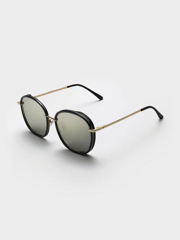 Gentle Monster Black Gold Acetate Sunglasses