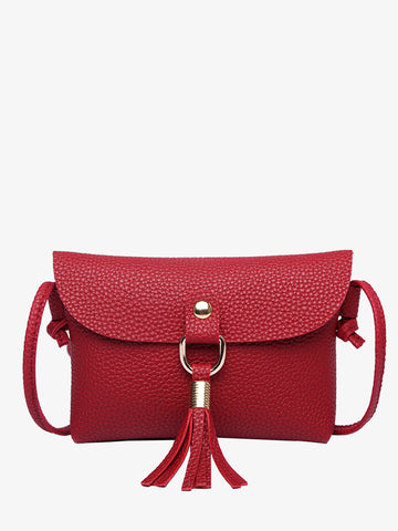 Women's Fashionable Red Shoulder Bag