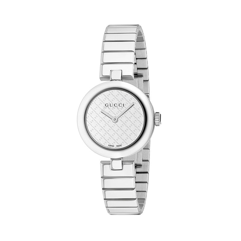 Gucci watch ladies gold mother-of-pearl small dial quartz watch