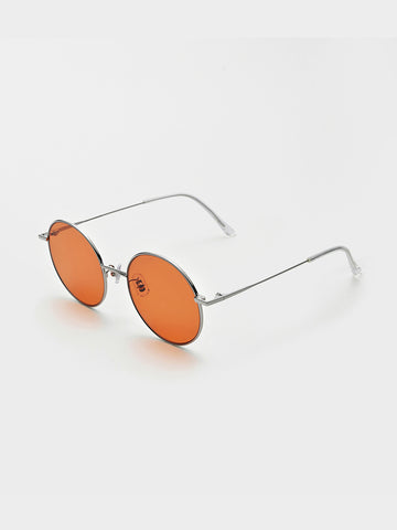 Gentle Monster Orange-tone Round Frames Sunglasses