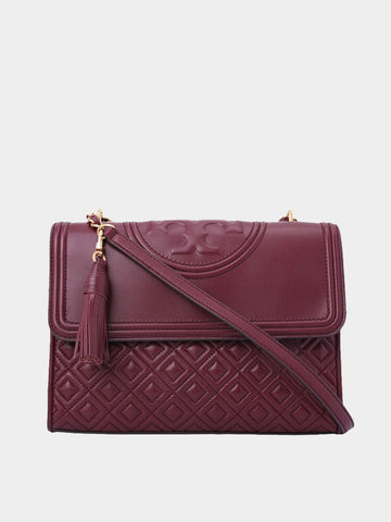 Women's Deep Red Fleming Shoulder Bag
