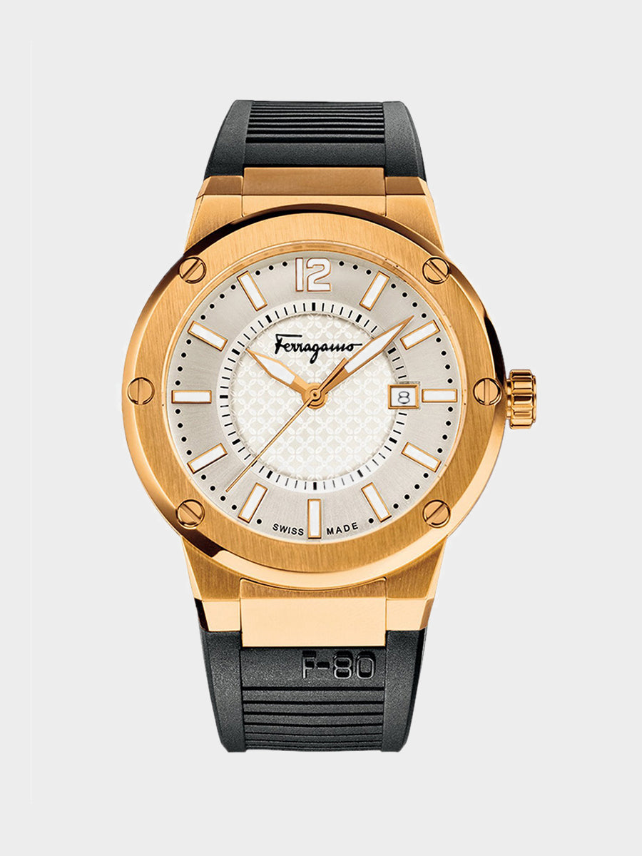 Men's Rose Gold IP Stainless Steel Watch