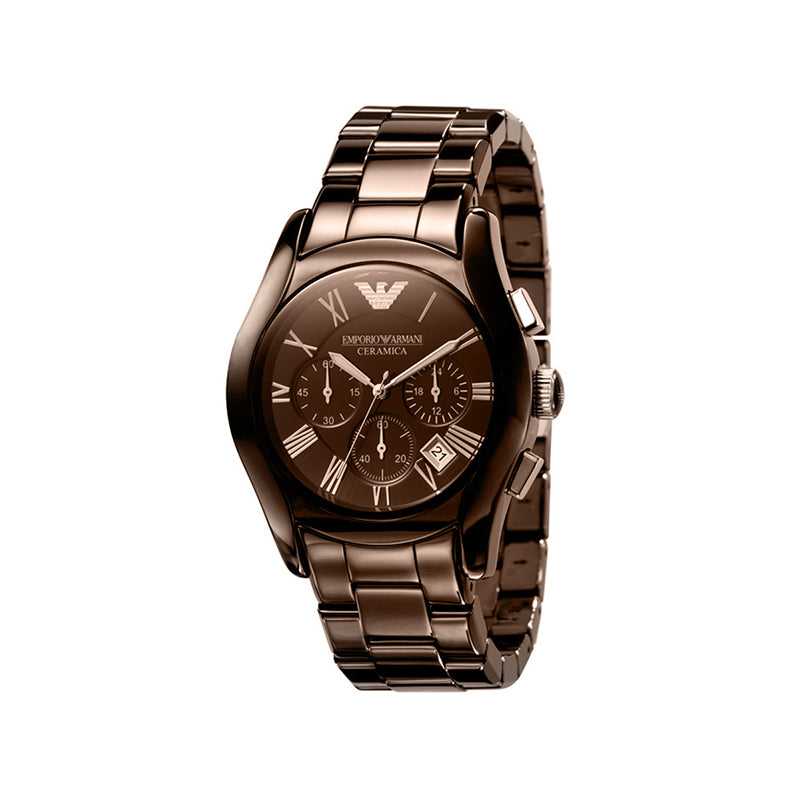 Emporio Armani Brown ladies stainless steel classic fashion watch