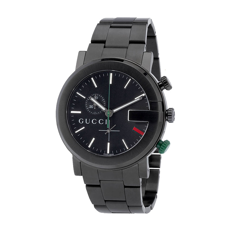 GUCCI CHRONO series men's low-key luxury black watch