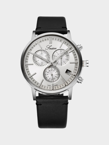 Men's Leather Strap Mechanical Watch