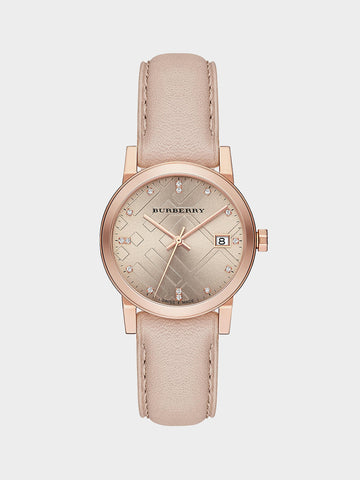 Burberry Quartz Rose Leather Watch